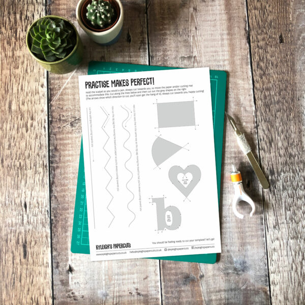 practice sheet papercut