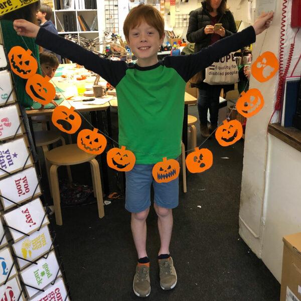 pumpkin craft finished
