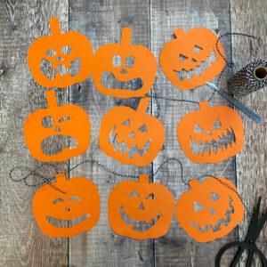 Halloween Pumpkin Garland