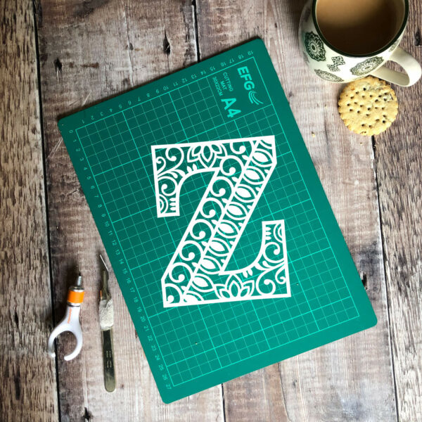 Letter Z papercut template