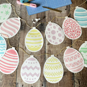 Easter Bunting Template PDF