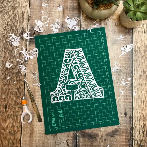 Letter A Papercut