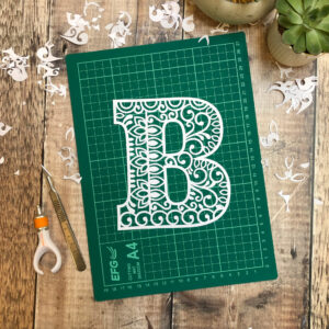 Letter B Papercut