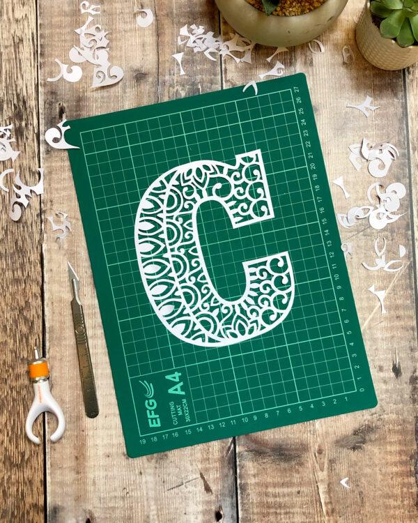 Letter C Papercut