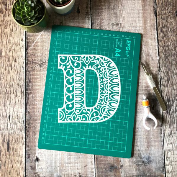 Letter D Papercut
