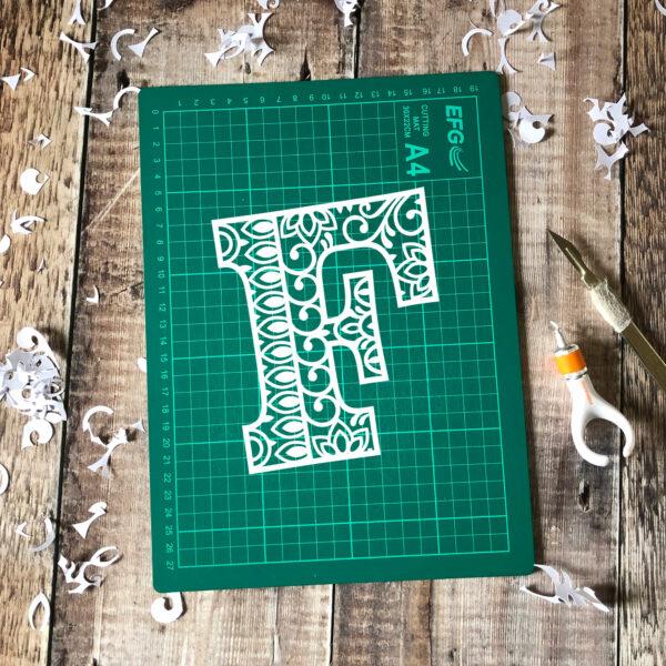 Letter F Papercut