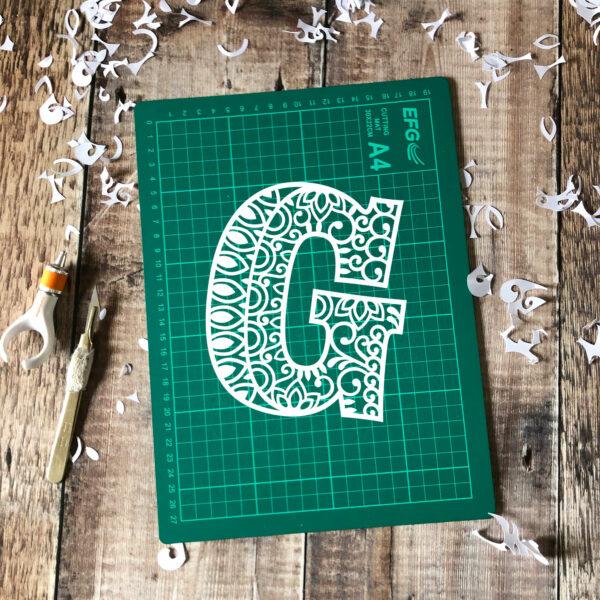 Letter G Papercut