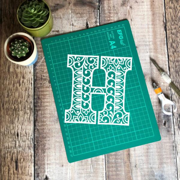 Letter H Papercut