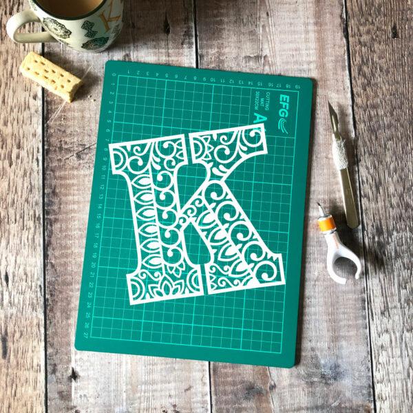 Letter K Template