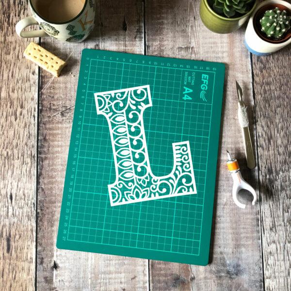 Letter L Papercut