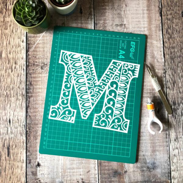 Letter M Papercut