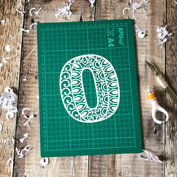 Letter O Papercut