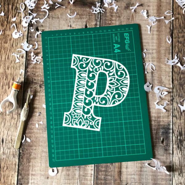 Letter P Papercut